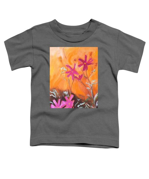 Toddler T-Shirt featuring the painting Alba Daisies by Winsome Gunning
