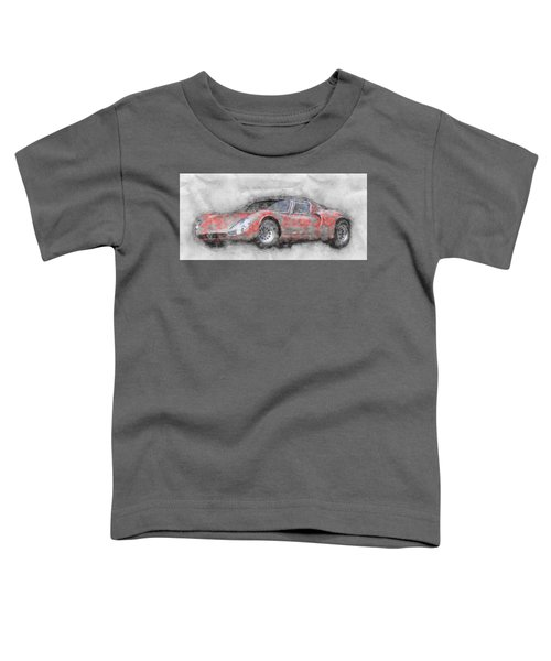 Alfa Romeo 33 Stradale 2 - 1967 - Automotive Art - Car Posters Toddler T-Shirt