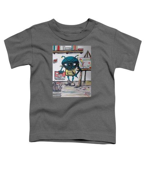 Alien Artist Toddler T-Shirt