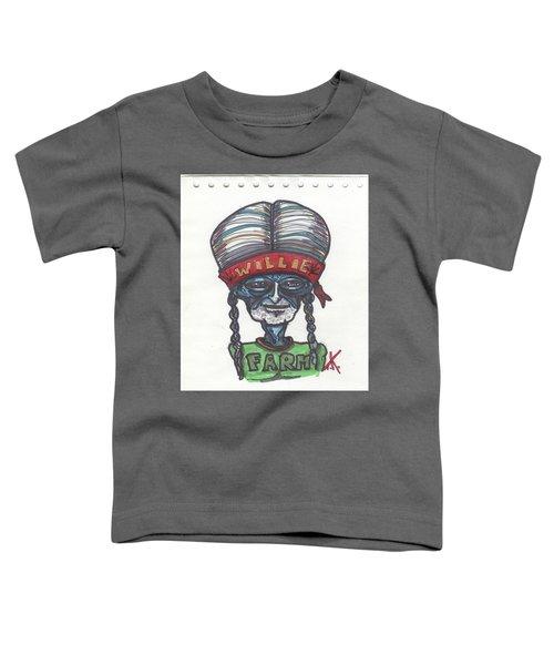 alien Willie Nelson Toddler T-Shirt
