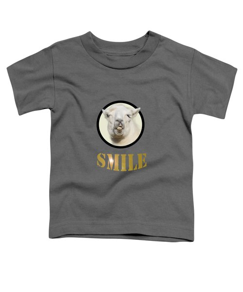 Alpaca Smile  Toddler T-Shirt by Rob Hawkins