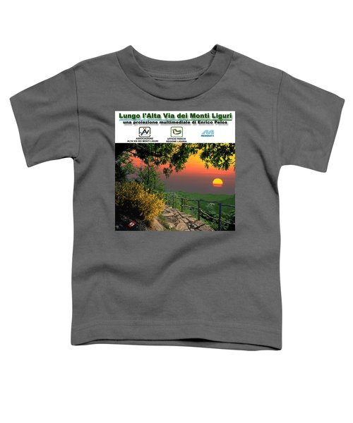 Alta Via Dei Monti Liguri Cd Case Label Toddler T-Shirt