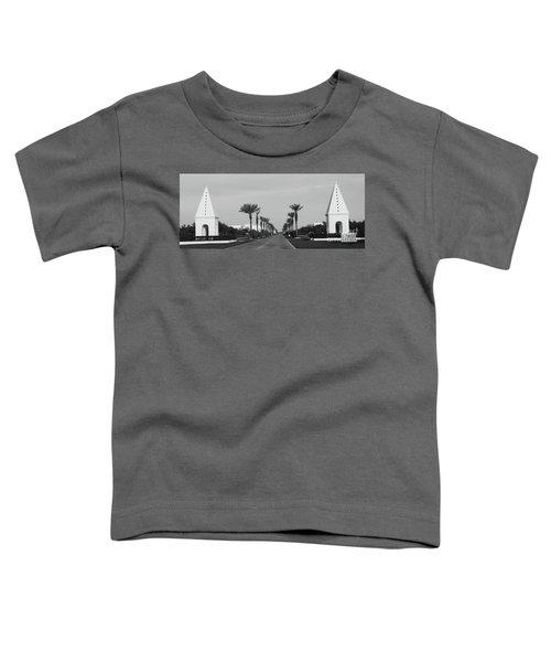 Alys Beach Entrance Toddler T-Shirt by Megan Cohen