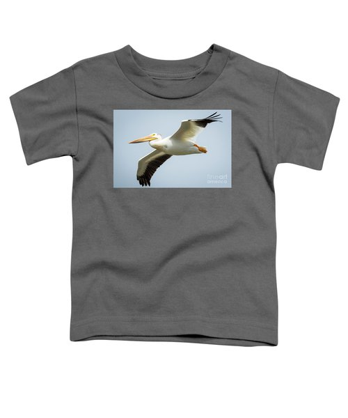 American White Pelican Flyby  Toddler T-Shirt