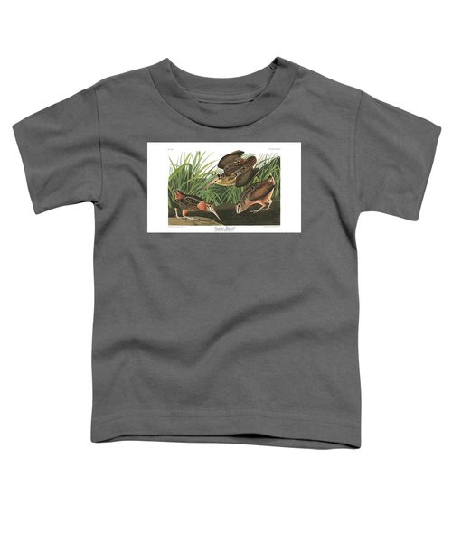 American Woodcock Toddler T-Shirt by MotionAge Designs