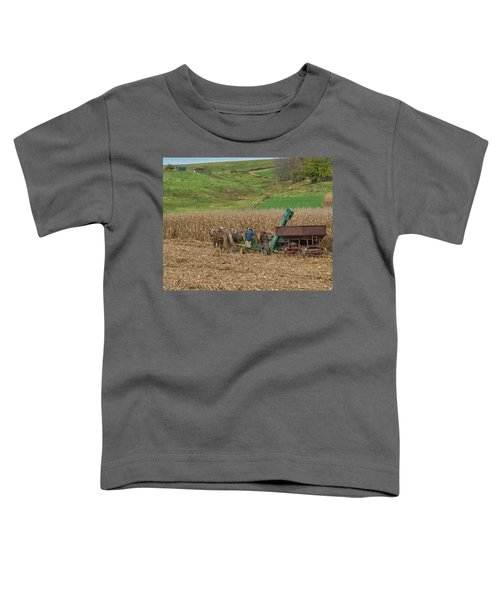 Amish Harvest In Ohio  Toddler T-Shirt