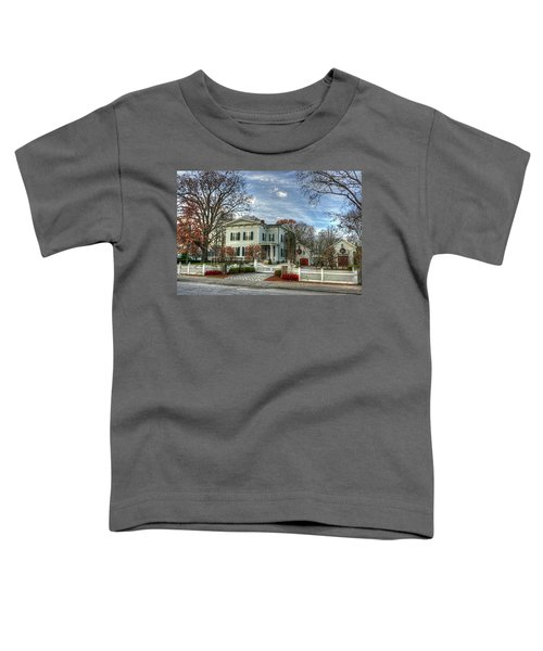 Amos Tuck House In Late Autumn Toddler T-Shirt
