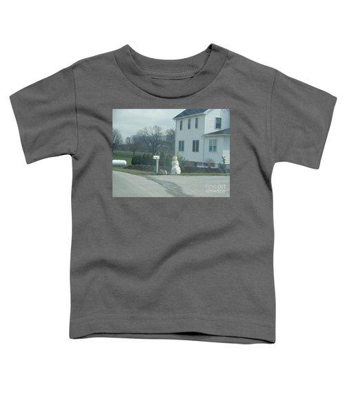 An Amish Snowman Toddler T-Shirt