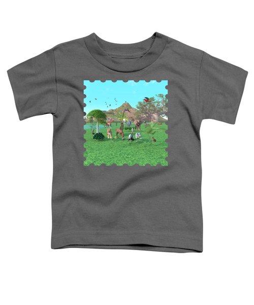 An Exotic Wild Animal Scene Toddler T-Shirt