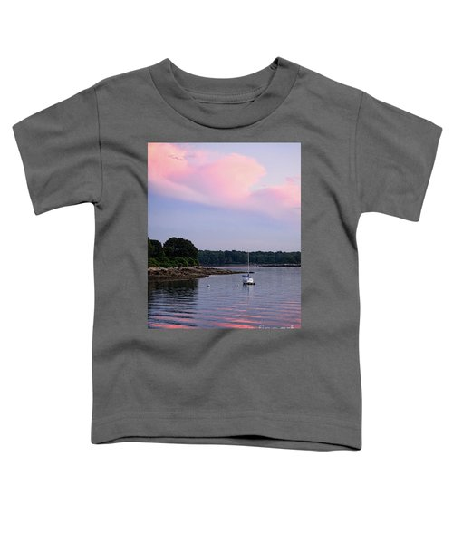 Anchored At Peaks Island, Maine  -07828 Toddler T-Shirt