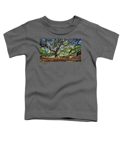 Angel Oak In Digital Oils Toddler T-Shirt