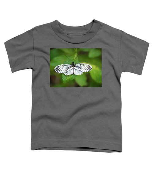 Angry Butterfly With A Mustache Toddler T-Shirt