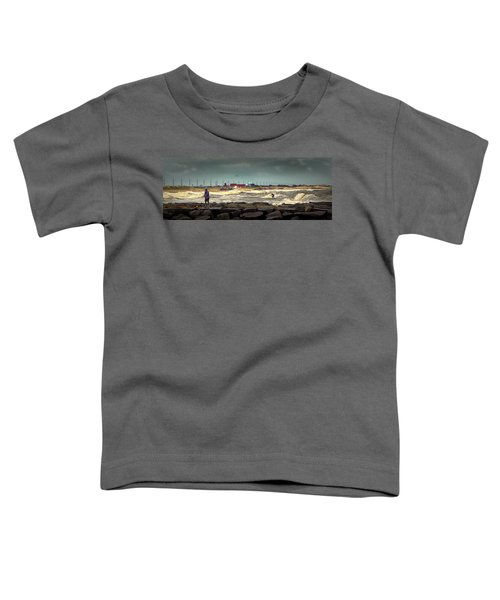Angry Surf At Indian River Inlet Toddler T-Shirt
