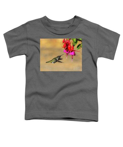 Anna And Hardy Fuchsia Flower Toddler T-Shirt