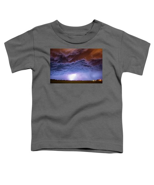 Another Impressive Nebraska Night Thunderstorm 007 Toddler T-Shirt