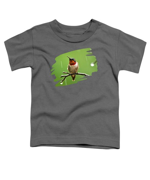 Another Rainy Day Hummingbird Toddler T-Shirt by Christina Rollo
