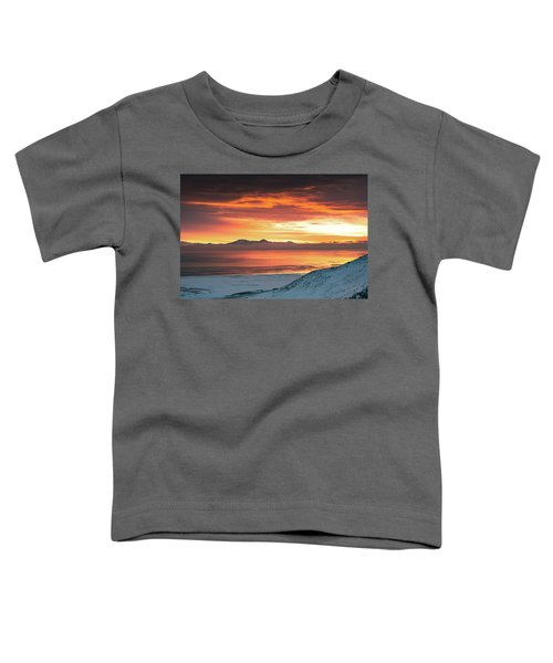 Antelope Island Sunset Toddler T-Shirt