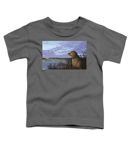 On Watch - Yellow Lab Toddler T-Shirt