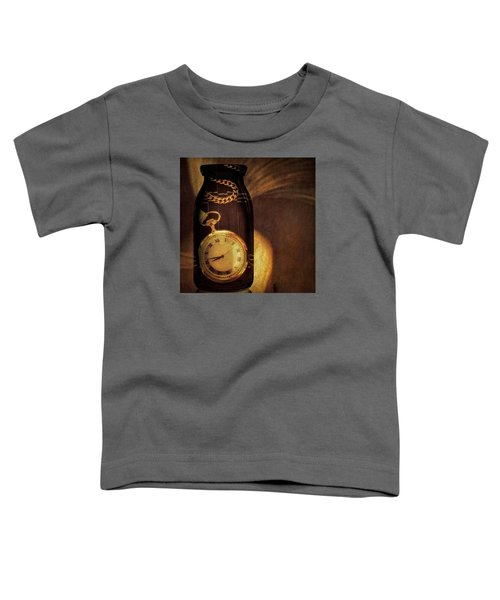 Antique Pocket Watch In A Bottle Toddler T-Shirt by Susan Candelario