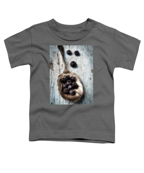 Antique Spoon And Buleberries Toddler T-Shirt by Garry Gay