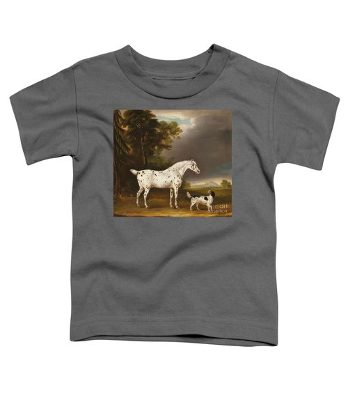 Appaloosa Horse And Spaniel Toddler T-Shirt