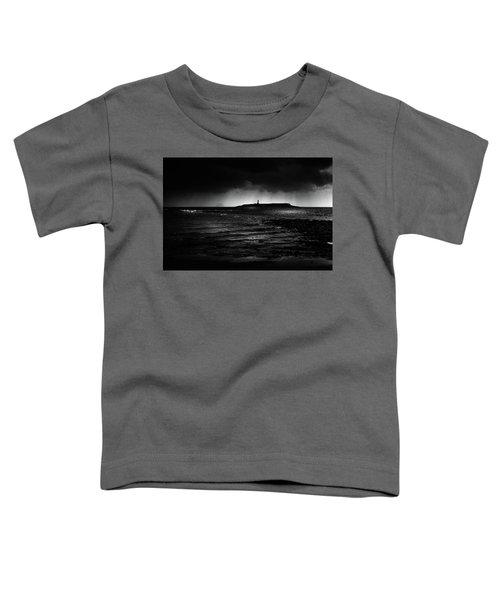 Approaching Storm, Ailsa Craig And Pladda Island Toddler T-Shirt