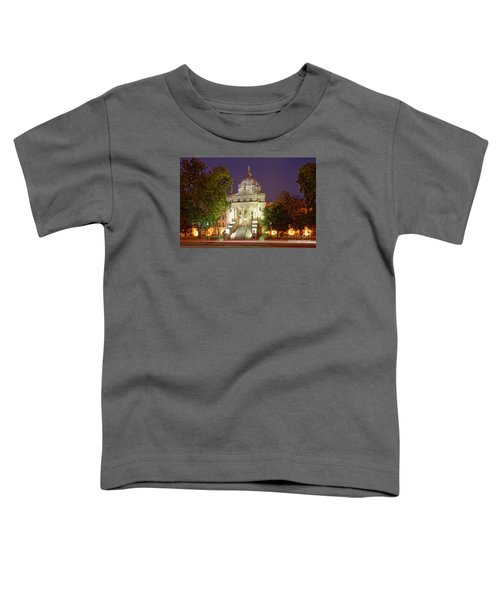 Architectural Photograph Of Mclennan County Courthouse At Dawn - Downtown Waco Central Texas Toddler T-Shirt