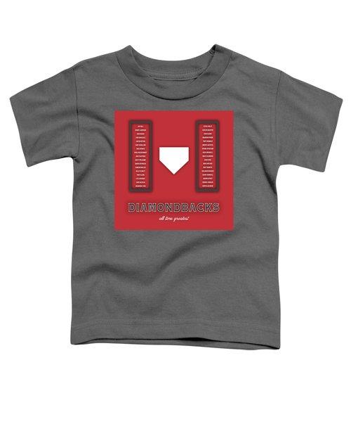 Arizona Diamondbacks Art - Mlb Baseball Wall Print Toddler T-Shirt by Damon Gray