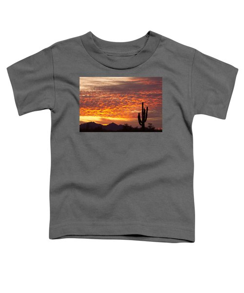 Arizona November Sunrise With Saguaro   Toddler T-Shirt