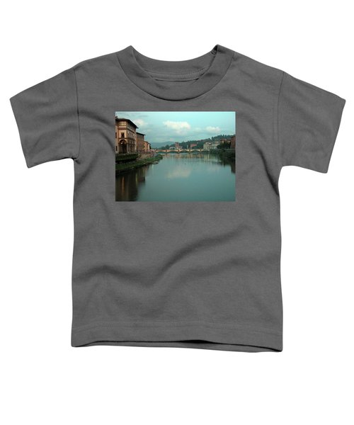 Toddler T-Shirt featuring the photograph Arno River, Florence, Italy by Mark Czerniec
