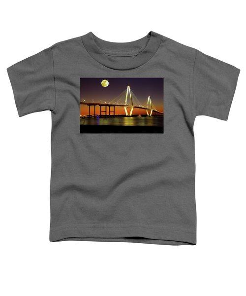 Arthur Ravenel Bridge At Night Toddler T-Shirt