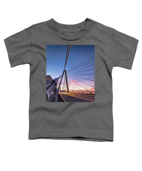 Arthur Ravenel Jr. Bridge Light Trails Toddler T-Shirt