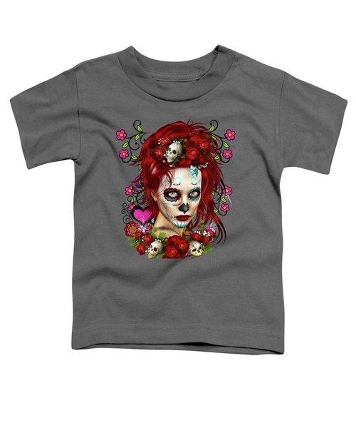 Sugar Doll Red Toddler T-Shirt by Shanina Conway