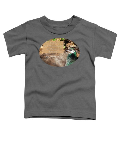 Place Of Rest With Verse Toddler T-Shirt by Anita Faye