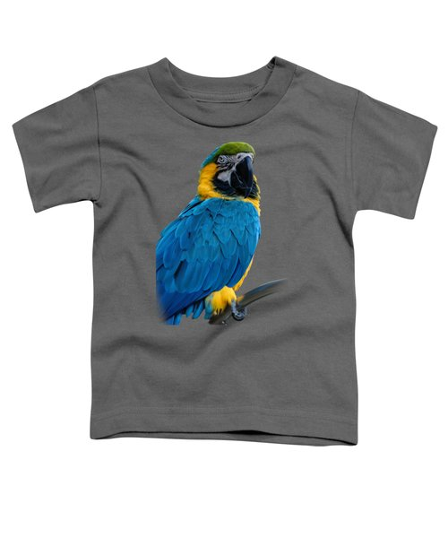 Blue Yellow Macaw No.2 Toddler T-Shirt