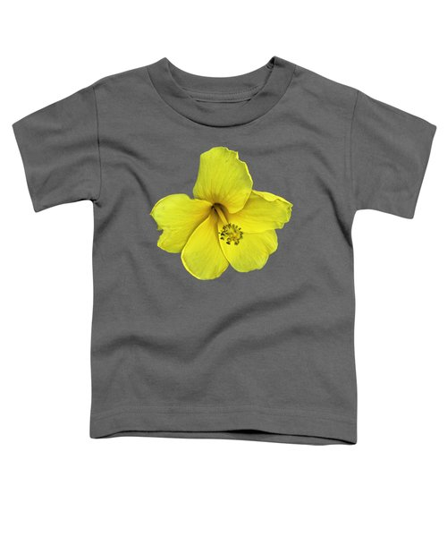 Yellow Hibiscus Toddler T-Shirt