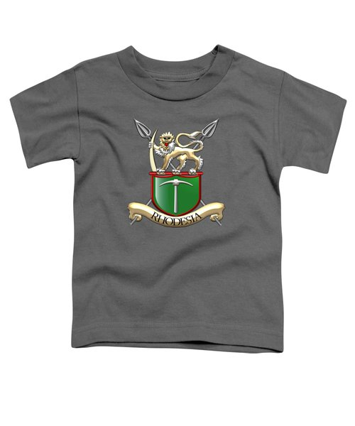 Rhodesian Army Emblem Over Green Velvet Toddler T-Shirt
