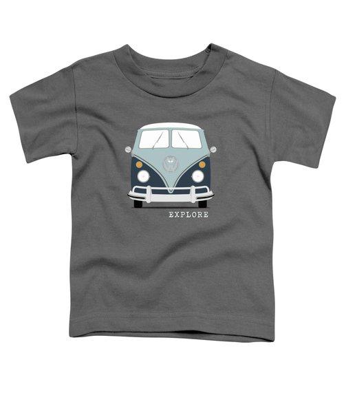 Vw Bus Blue Toddler T-Shirt by Mark Rogan
