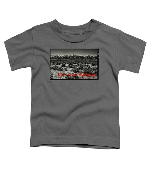 Mount Whitney From The Western Boundary Of Manzanar Concentratio Toddler T-Shirt