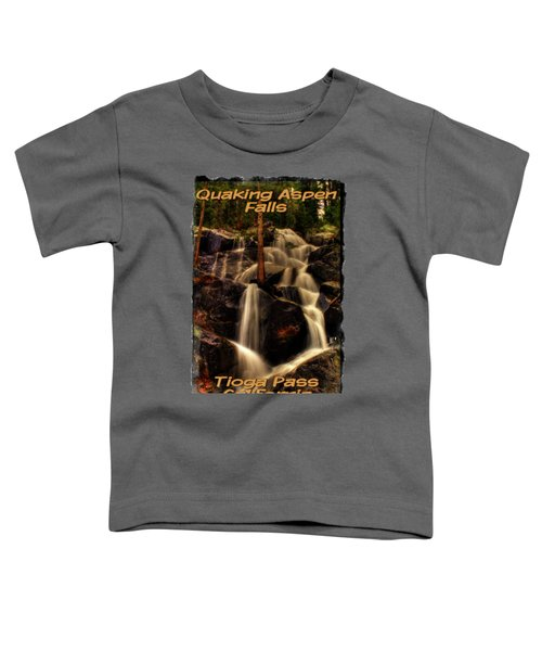 Quaking Aspen Falls Along Tioga Pass  Toddler T-Shirt by Roger Passman