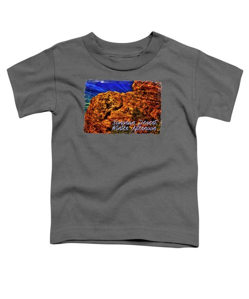 Navajo Sandstone And Cirrus Clouds Toddler T-Shirt