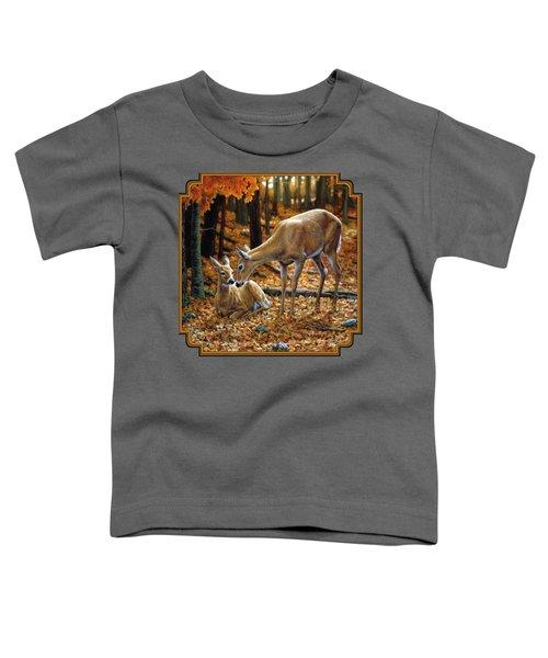 Whitetail Deer - Autumn Innocence 2 Toddler T-Shirt