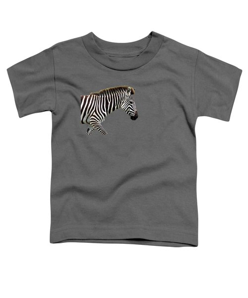 Zebra Toddler T-Shirt by Aidan Moran