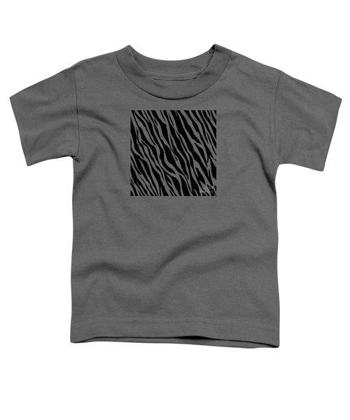 Tiger On White Toddler T-Shirt by Mark Rogan