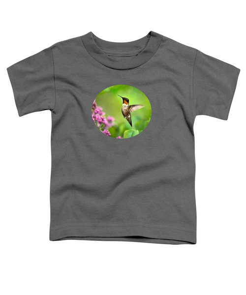 Welcome Home Hummingbird Toddler T-Shirt by Christina Rollo