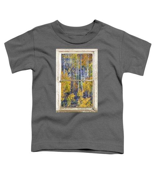 Aspen Tree Magic Cottonwood Pass White Farm House Window Art Toddler T-Shirt