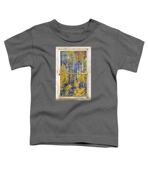 Aspen Tree Magic Cottonwood Pass White Farm House Window Art Toddler T-Shirt