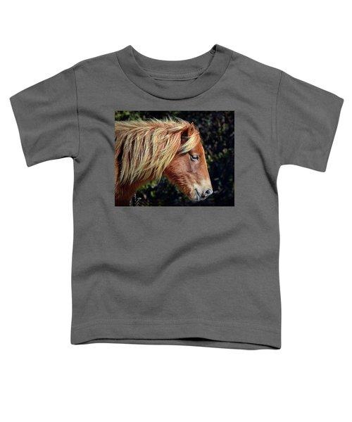 Assateague Horse Sarah's Sweet Tea Right Profile Toddler T-Shirt