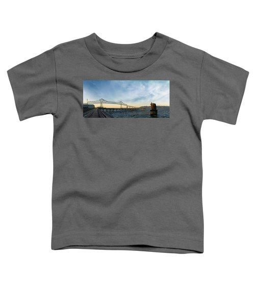 Astoria Megler Bridge By Riverwalk Panorama Toddler T-Shirt