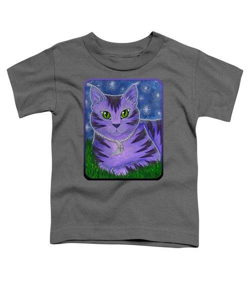 Astra Celestial Moon Cat Toddler T-Shirt